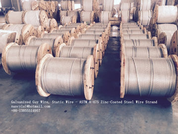 China ASTM A 475 Galvanized Guy Wire / Steel Cable Wire With Excellent Anti Rust Performance supplier