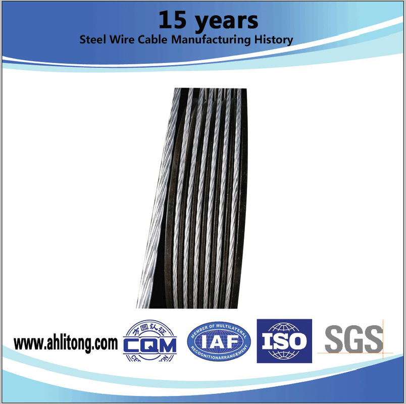 High Tension Galvanized Stay Wire ASTM A 363 ASTM A 475 For Aluminum Cables