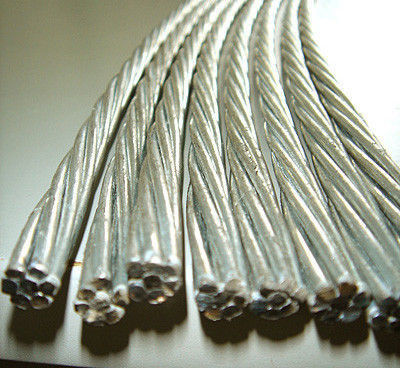 0.5mm-5.0mm Galvanized Steel Cable Wire Rod , Tensile Strength 1000 ...
