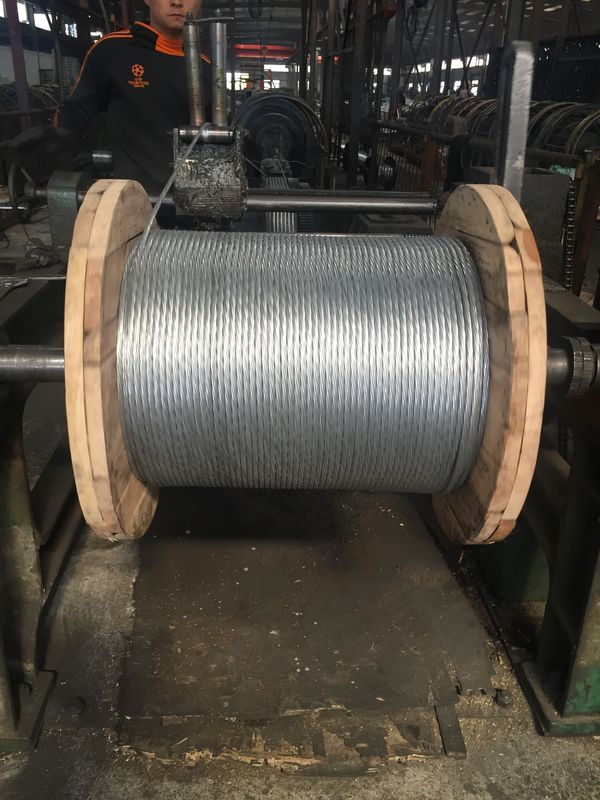 High Strength Heavy Galvanized Steel Wire Cable For Overhead Power Transmission Line