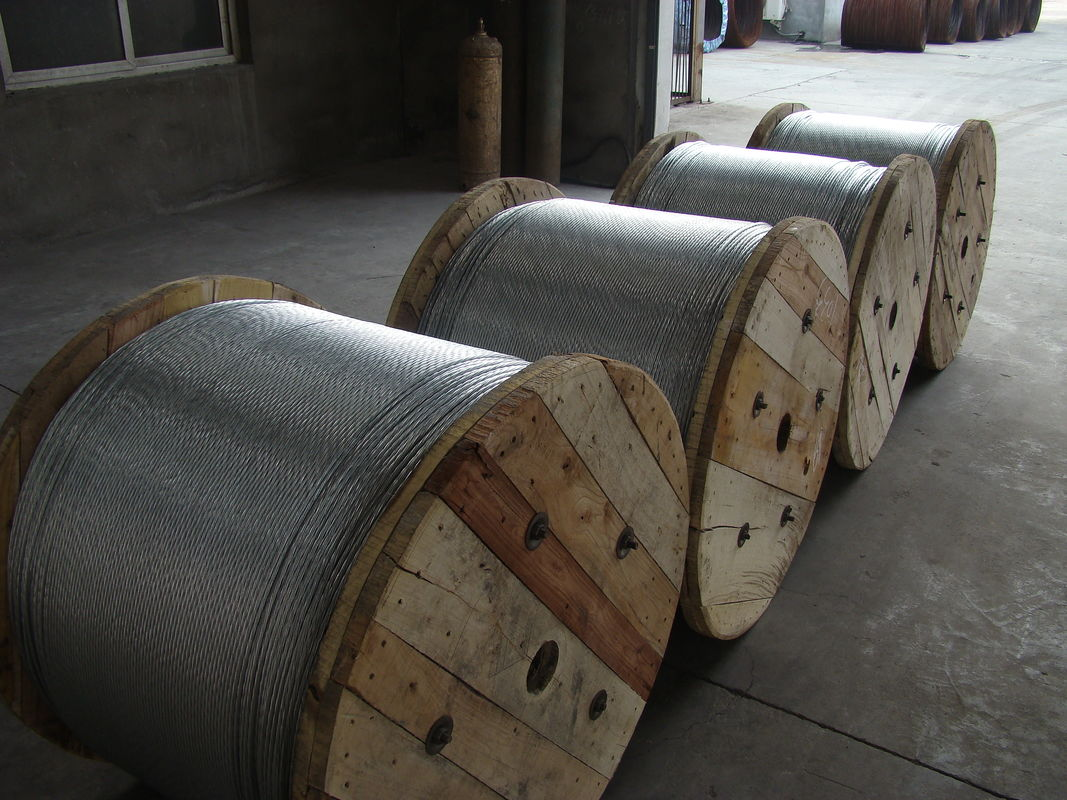 Low Stress 1.0-4.8mm Gauge Galvanized Steel Wire Cable For Atomic Reactor Buildings