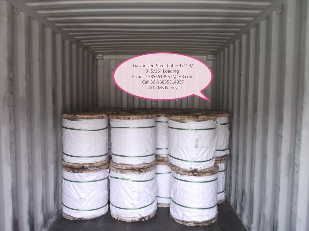 ASTM A 475 EHS Class 5 16 Inch Galvanized Steel Wire Rope For ...