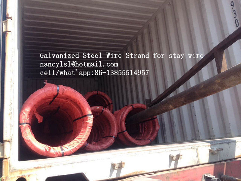 Hot Dipped Galvanized Steel Cable Strand For Stay Wire BS 183 With 100m / Roll