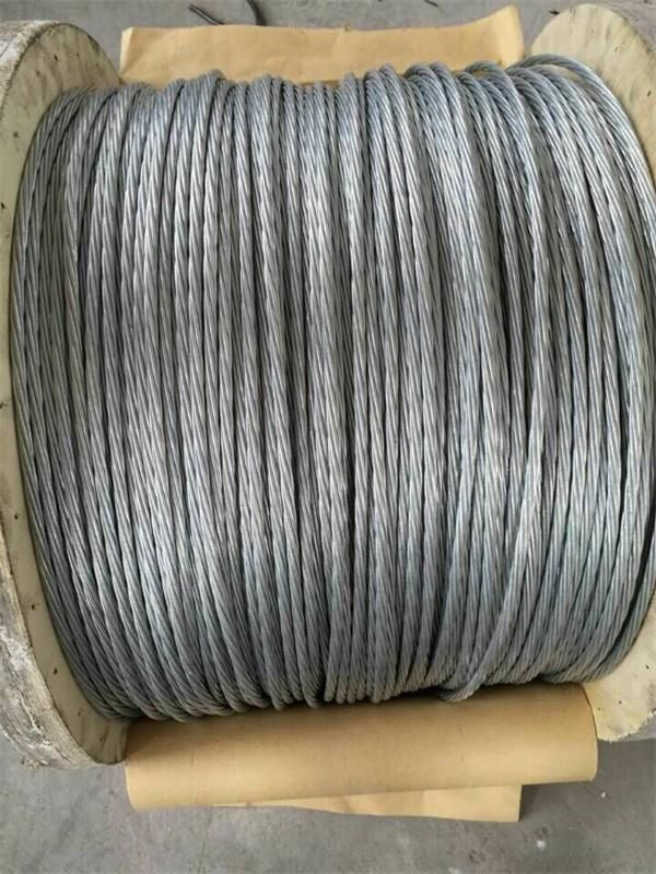 1* 7 1*19 Galvanized Steel Guy Wire Cable Reducing Distortion And Construction Weight