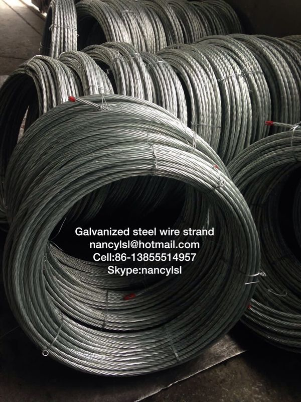 ACSR Conductor Galvanized Steel Wire Cable Strand With High Tensile ...