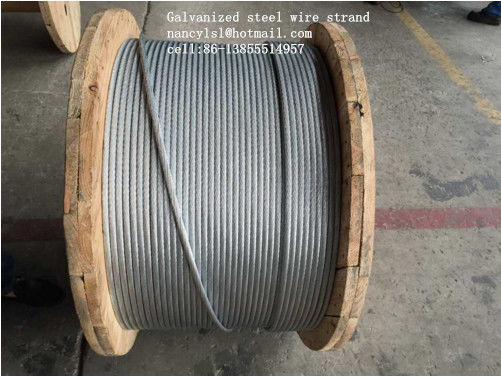 ASTM B498 Galvanized Guy Wire , 1*7 1*19 Galvanized Wire Rope With ...
