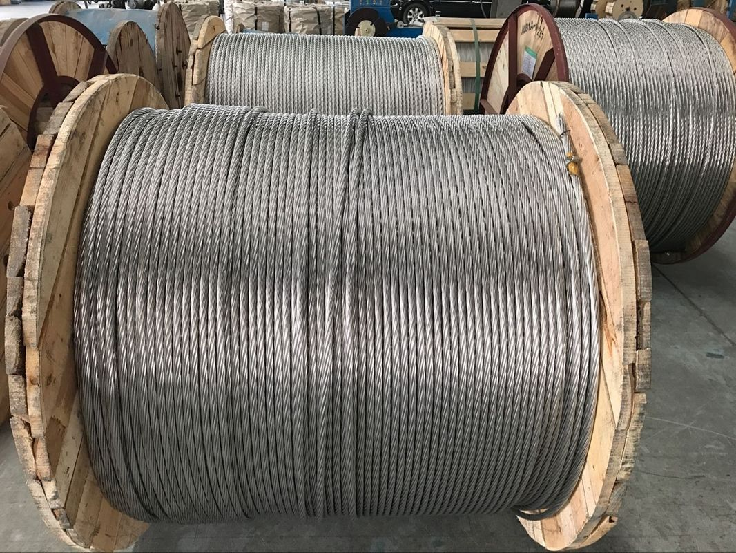 ASTM A 475 Zinc Coated Steel Wire Strand , Non - Alloy High Strength ...