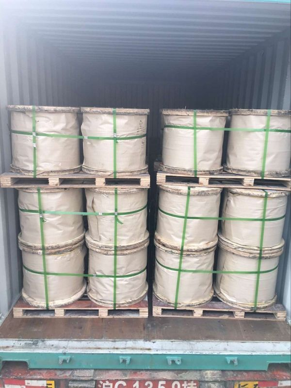 "1/2"" 12.7mm 7x4.19mm Galvanized Guy Wire As Per ASTM A 475 Class A EHS"