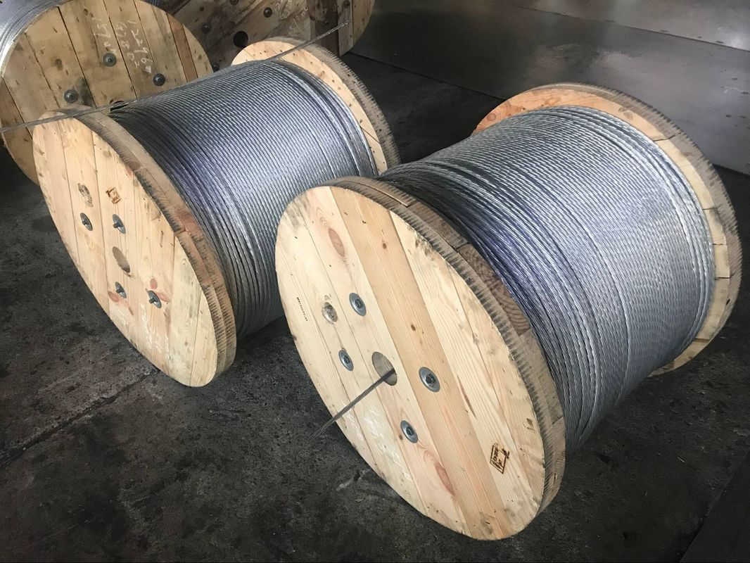 7x3.1mm Galvanized Steel Wire Strand With Heavy Zinc - Coating More Than 400g / M2