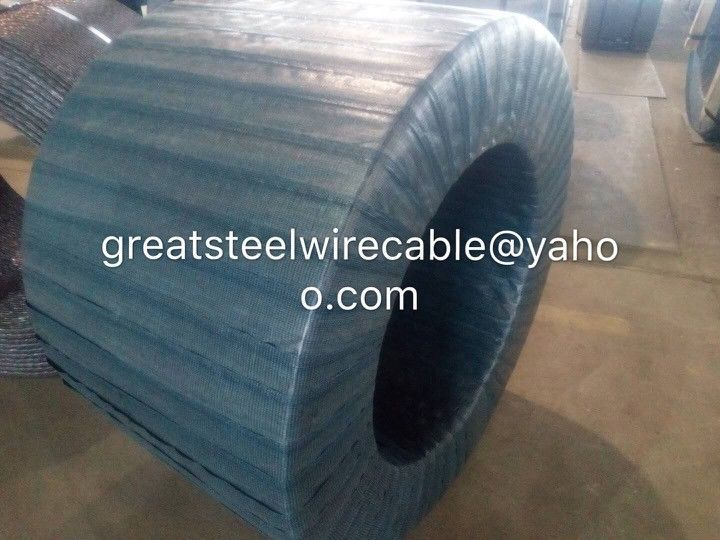 1x7 PC Steel Wire Pc Steel Strand 1860MPA With Size 12.5mm For Construction