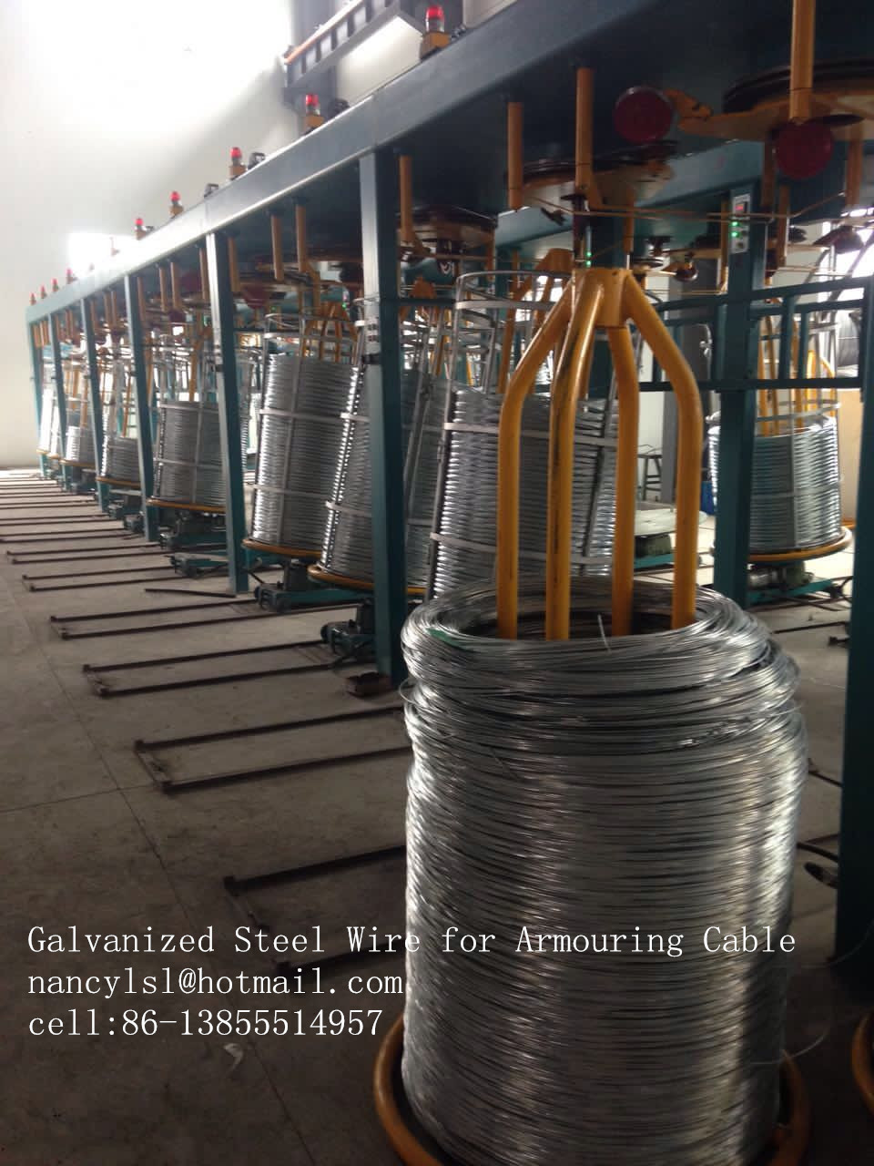 Hot Dip Galvanized Low Carbon Steel Wire For Armouring Cable Wire Mesh