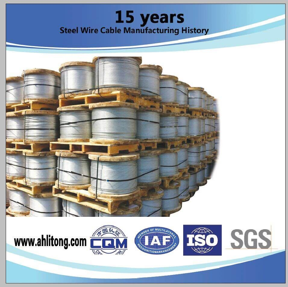 3/8 Inch Galvanized Steel Aircraft Grade Wire Rope 7 X 3.05mm For ...