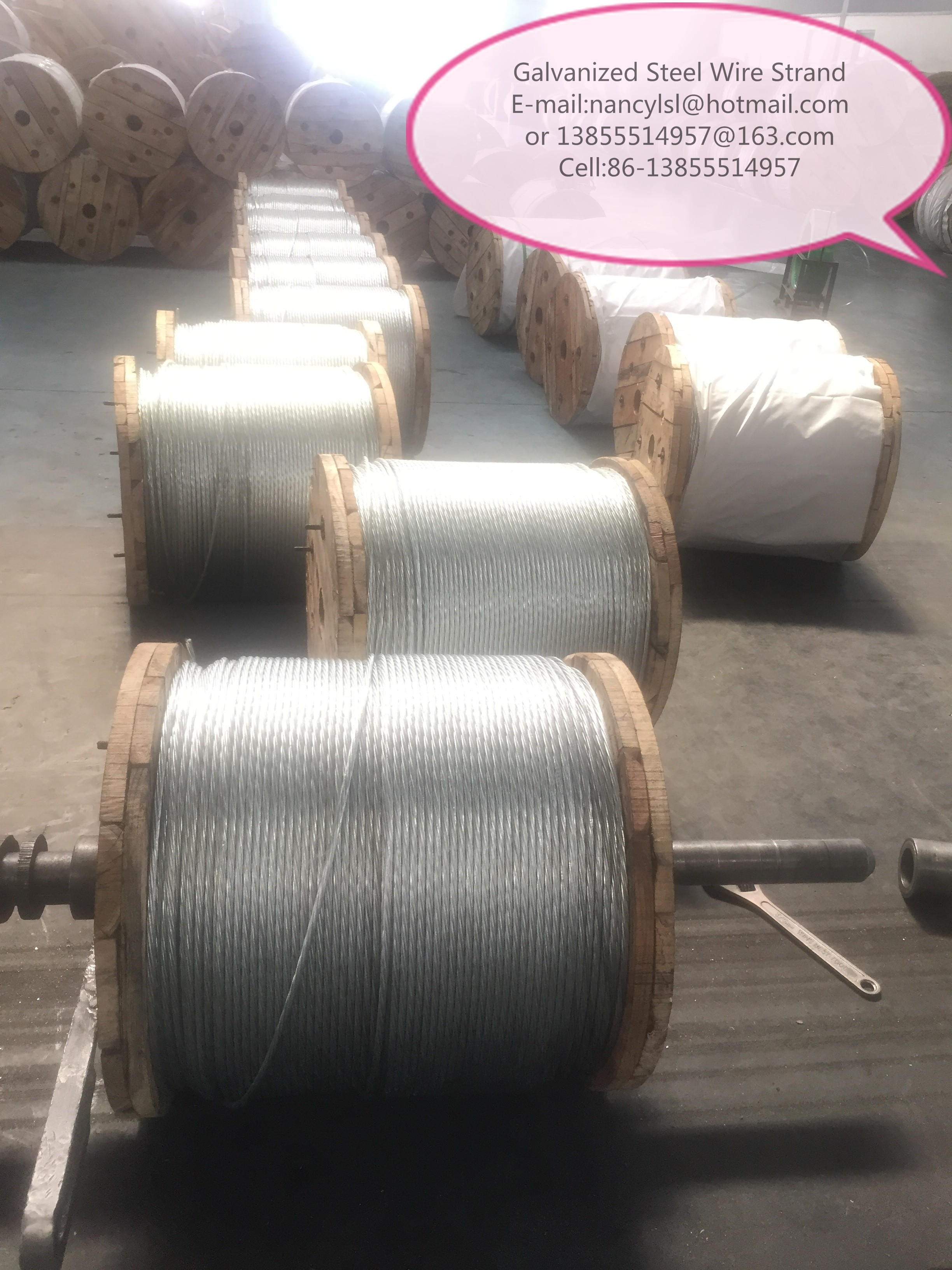 Durable EHS Galvanized Cable Wire , Cable Steel Wire With Coil ...
