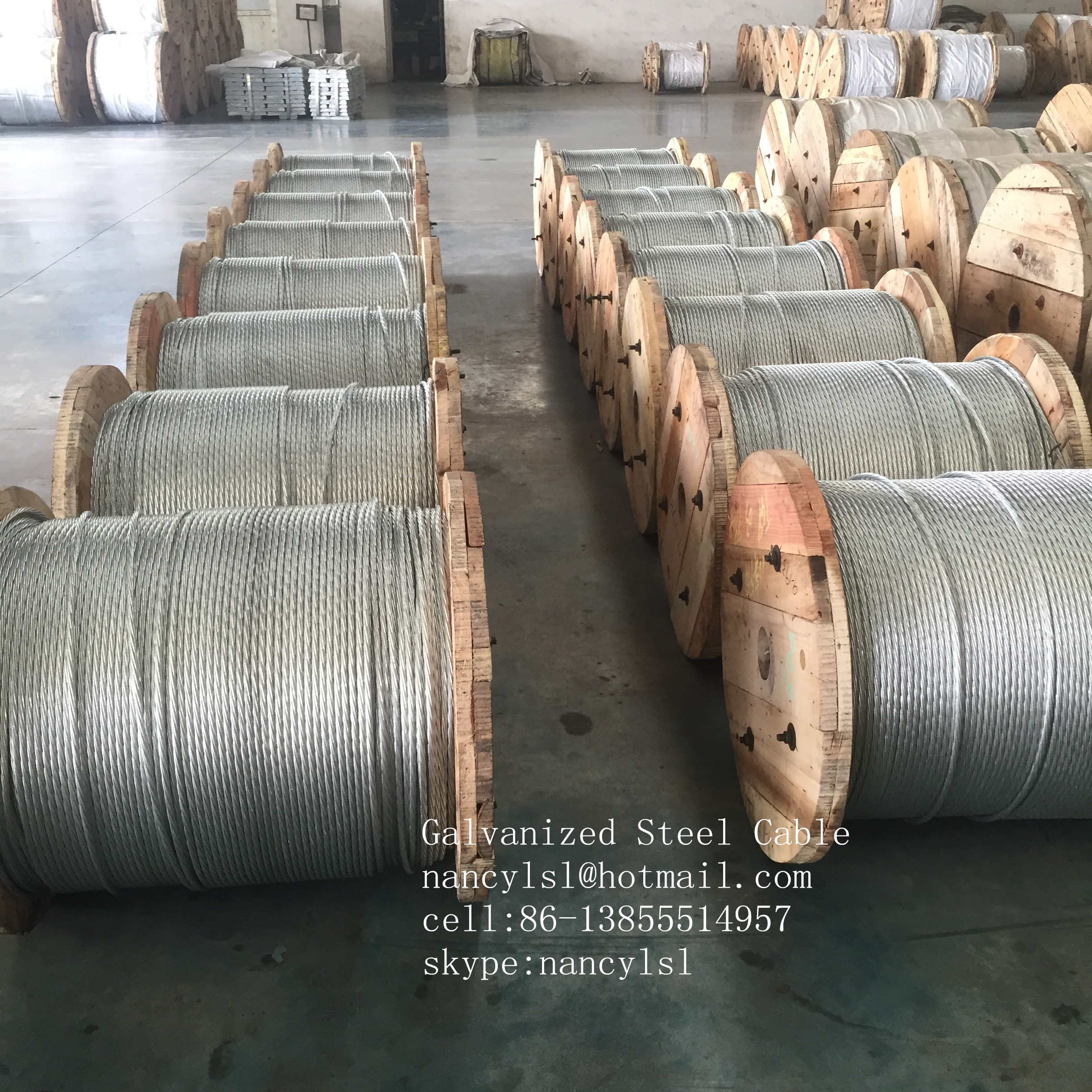 Hot Dipped 1 2 Inch Galvanized Steel Rope For Guy Wire With Left ...