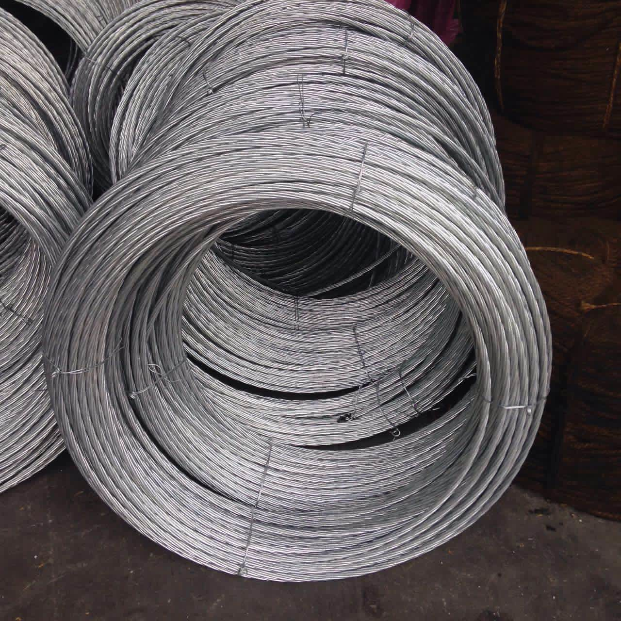 Low Carbon Galvanized Wire Rope , Zinc Coated Steel Wire For Greenhouses