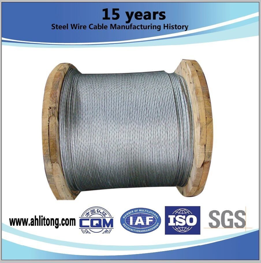 Messenger Strand Galvanized Steel Rope , 1 4 Inch Galvanized Cable ...