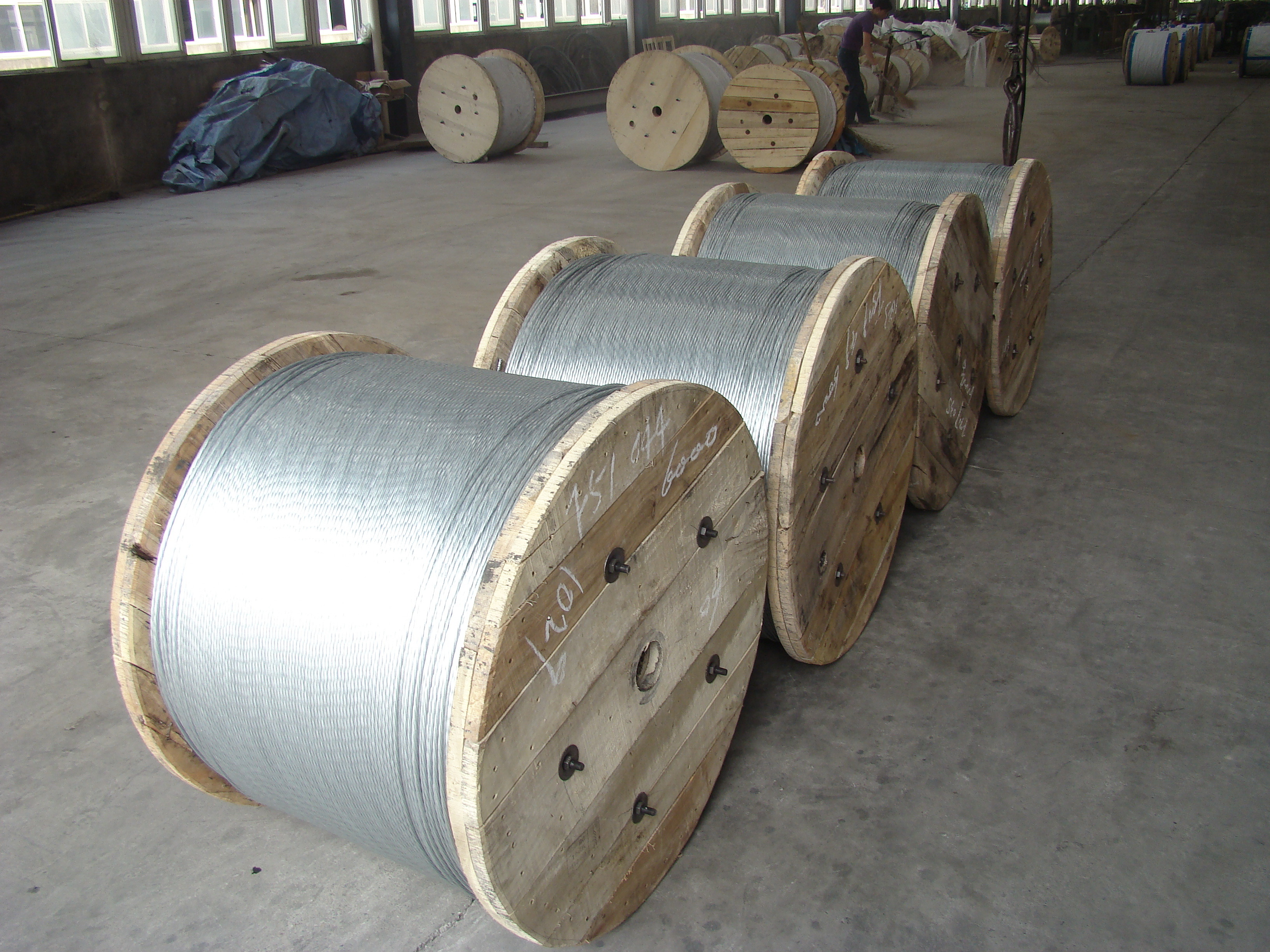 Non - Alloy Galvanized Cable Wire / Waterproof ASTM B 498 Flexible ...