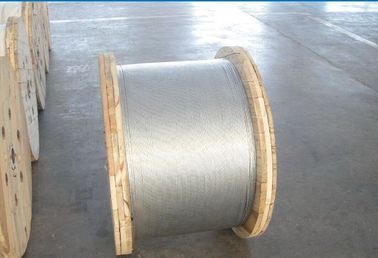 Non - Alloy Galvanized Ground Shield Wire With Hot Dip Galvanizing Vertical Process