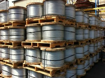 China EHS Wire Zinc Coated Overhead Ground Wire / Overhead Earth Wire For Atomic Reactor Buildings factory