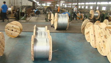 Middle And High Carbon Galvanized Wire Cable 1.0-4.8mm Wire Gauge For ACSR Conductor