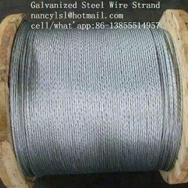 "Multifunctional Galvanized Steel Wire Strand , 3 /8 ""Galvanized Aircraft Cable For Messenger"