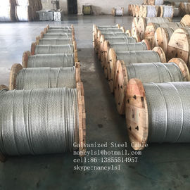 Non - Alloy Galvanized Steel Core Wire , Stiffness 3 16 Galvanized Steel Cable