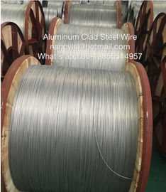 Bare Aluminium Clad Steel Wire For Electric Transmission With Round Wire Material Shaped