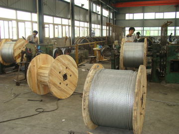 China Lightweight 45# 55# Zinc Coated Steel Guy Wire For Overhead Transmission Lines factory