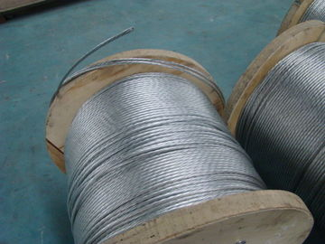 Right Hand Lay Direction Galvanized Stay Wire With Overall Diameter 9.8 Mm