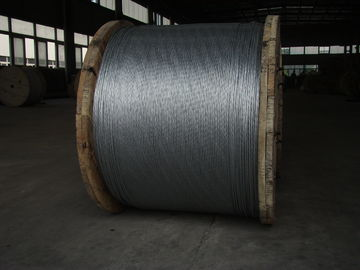 China Non - Alloy Overhead Ground Wire , EHS Class A 1 2 Galvanized Aircraft Cable factory