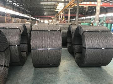 12.5mm,12.7mm,15.24mm ASTM A416 Grade 270 1860 MPA PC Steel Wire / Stiffness Stranded Steel Cable