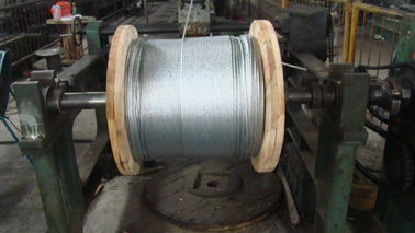 China Overhead Galvanized Earth Wire / Ground Wire ASTM A 475 ASTM B 498 BS 183 factory