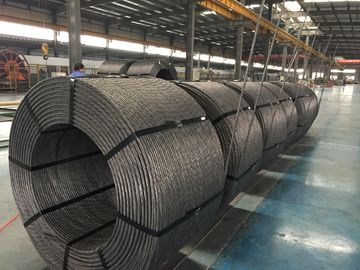 "China 0.5"" / 12.7mm PC Steel Wire Strand , Low Relaxation Strand Non Rotating Grade 1860/270 factory"