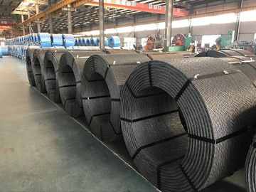 "1/2"" LRPC Steel Wire Strand For Railway Sleeper Production As Per ASTM A 416 , BS , DIN"