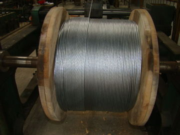 "3/8"" Galvanized Steel Wire Strand , Galvanized Guy Wire On Reel Packing"