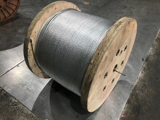 High Tensile Strength 1x2 Galvanized Steel Wire Strand For ACSR Conductor